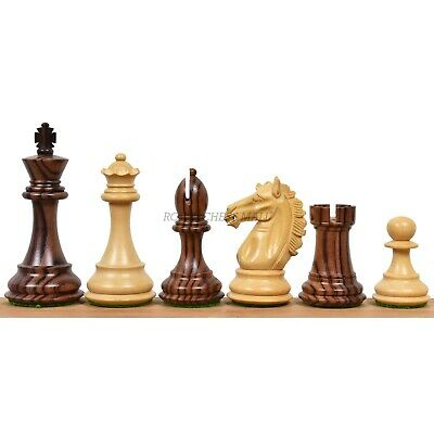 """3.9"""" Exclusive Alban Staunton Chess Pieces Only set - Triple Weighted Rose Wood"""