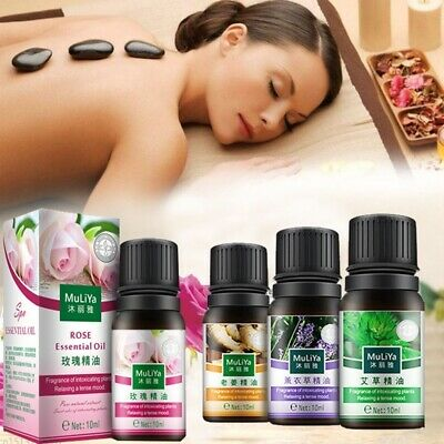 10ml Pure Essential Oils for Aromatherapy Diffusers Body Massage Relieve Stress