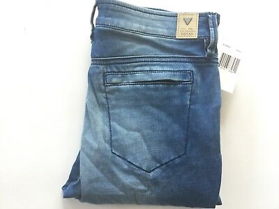 Guess Women/'s Lanori Coated Skinny Jeans Medium Rise Ankle Stone Grey Size 27