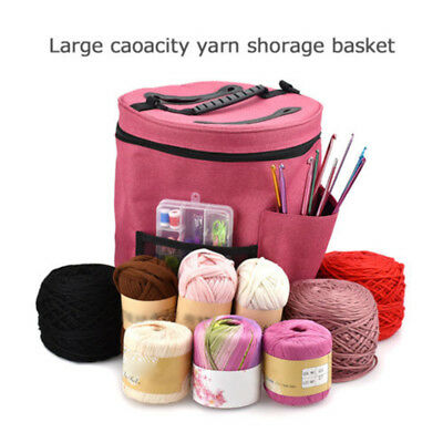 "11"" X 12.6"" Large Crochet Hook Yarn Wool Storage Bag DIY Woven Item Storage Bag"