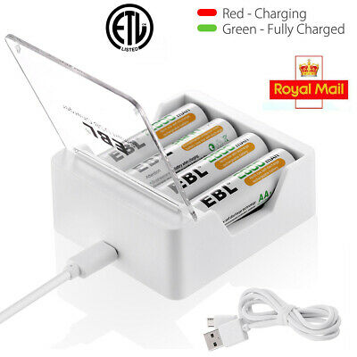 EBL Smart Fast Battery Charger +USB Cable For All Battery Ni-MH AA AAA,Universal