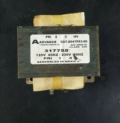 Advance Transformer Company 8047P53-60 317755 Transformer (In18S3B4)