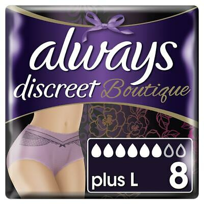 Always Discreet Boutique - Incontinence Pants - Purple - Large - Pack of 8