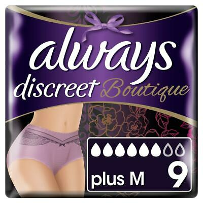 Always Discreet Boutique - Incontinence Pants - Purple - Medium - Packs of 9