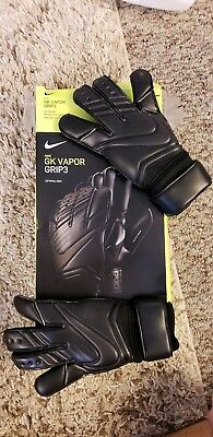 $120 Nike Size 6 GK Vapor Grip 3 Soccer Futbol Goalie Gloves GS0347-011 Black