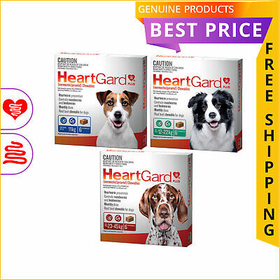 HEARTGARD PLUS for Dogs 6 Doses All Sizes Heartworm and Worm Treatment by Merial