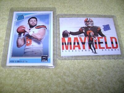 Baker Mayfield  2018 DONRUSS RATED ROOKIE  & RATED ROOKIE CUSTOM  CARD NRMT