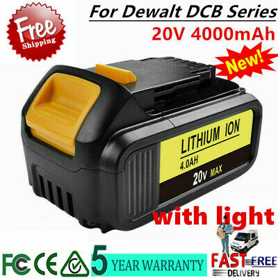 For DeWalt 20V Max XR 4.0 Ah Li-Ion Battery DCB200 DCB204   DCB201 DCB205-2 UB
