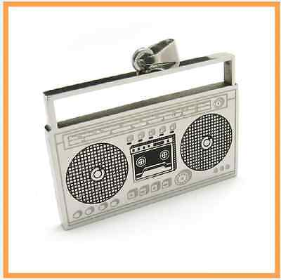 Hot 316L Stainless Steel Wireless Radio Receiver Radiogram Womens Mens Necklace
