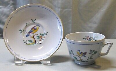 Spode Queen's Bird Fine Stone Y4973 Oversized Breakfast Cup and Saucer