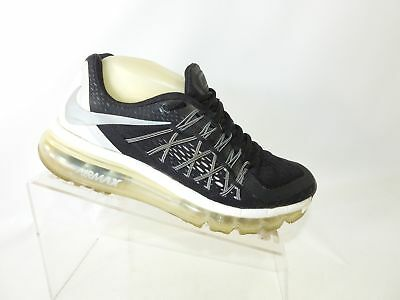 NIKE AIR MAX 2015 698903 001 Sz 7 Black Silver Lace Up Running Shoes For Women