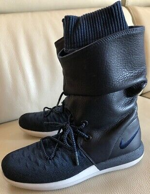 buy popular 1a9ab 5064b NWOB NIKE ROSHE Two Hi Flyknit High Top sneaker Boots Navy Blue Size 8