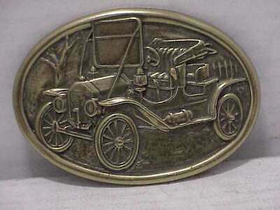 Vintage Brass AVON Belt Buckle Old Model T Ford Car/Auto Free Ship