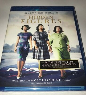 Hidden Figures (Blu-ray/DVD, Digital HD 2017, 2-Disc Set) BRAND NEW