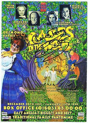 Colin Baker    Babes In The Wood  Signed  Playbill  Theatre  Concert Flyer