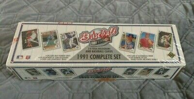 1991 Upper Deck Baseball Card Complete Set With 3d Team Holograms New Sealed