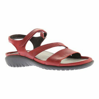 f2ba8f109992c Naot Womens Etera Leather Open Toe Casual Platform Sandals, Berry, Size 7.5
