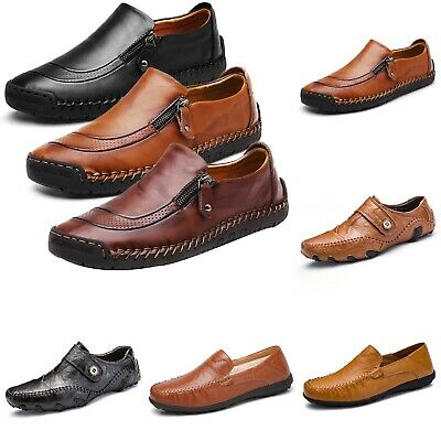 Fashion Mens Oxford Dress Shoes Lace Up Leather Lined Baseball Stitch Loafer New