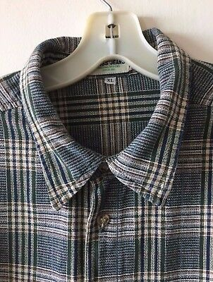 b03995344187 GUESS Jeans Plaid Check Shirt Button Front Long Sleeve Men's Extra Large