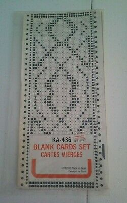 Knitting Machine Pattern Punch Cards Brother KA-436 New Old Stock Blank Mylar