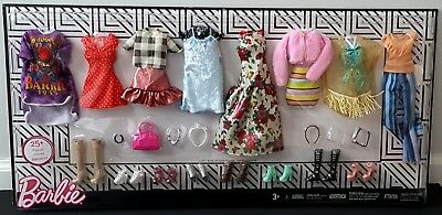 Barbie Fashion Doll Clothing Outfit Set 8 Outfit and Accessories - So Cute!
