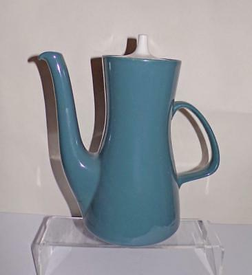 Poole Pottery Contour Shape Coffee Pot 1½ Pint Size Glazed in Cameo Blue Moon