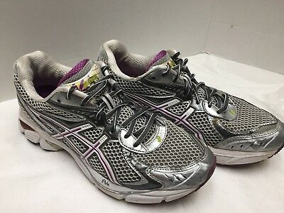 Details zu ASICS T154N Gel GT 2160 Running SHOES Purple Grey Metallic Silver Gray 8 Women a
