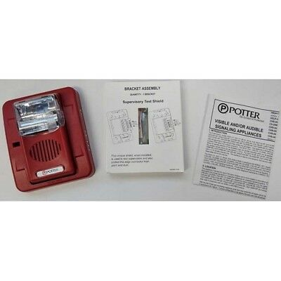 Potter HS-24WR Selectable Horn/Strobe Combination Evacuation Appliance - NEW