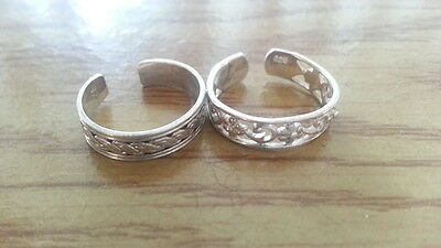 Sterling Silver Etched Toe Ring Item# N862 2.92 Grams