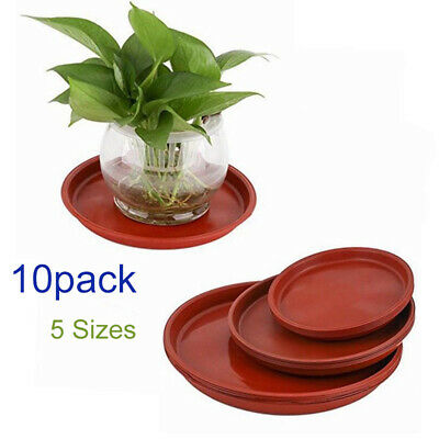 10x Heavy Duty Large Plastic Saucer Planter Plant Pot Saucers Water Tray Base