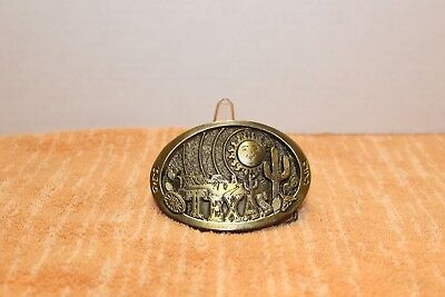 Vintage TEXAS Belt Buckle 1980 by Great American Buckle Co Chicago #150