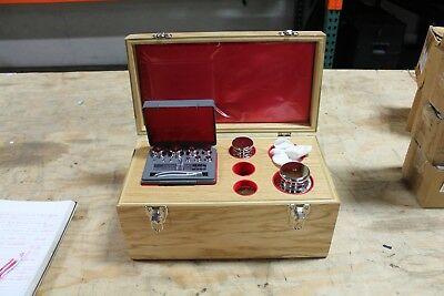 SCALE WEIGHT SET, APOTHECARY, Troemner, in Wood Box