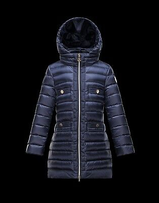 NEW $525 MONCLER Girls AUBETTE Raspberry Down Puffer Jacket