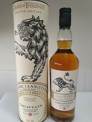 Game Of Thrones House Lannister. Lagavulin 9 Y.O 46% Whisky. Limited Edition.