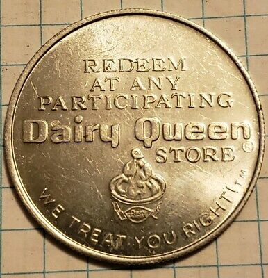 VINTAGE DAIRY QUEEN Aluminum Coupon Coin Token - Free DQ Sundae or 40 Cents  Off
