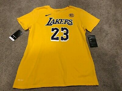 cced4bf653b10 NWT New Youth Nike Dri-FIT NBA Lebron James Los Angeles Lakers T-Shirt