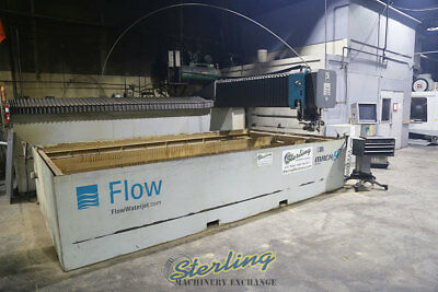 9' x 15', Used Flow 5-Axis Dynamic XD CNC Waterjet Cutting System, Mdl. Mach4 40