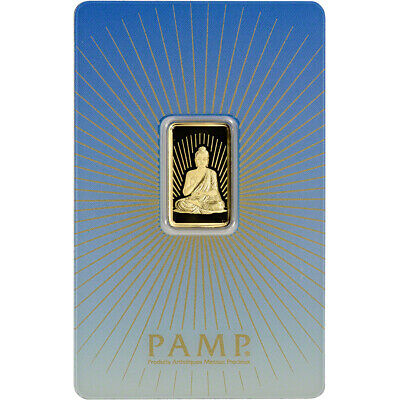 5 gram Gold Bar - PAMP Suisse - Buddha - 999.9 Fine in Assay