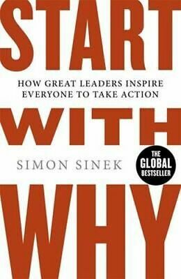 NEW Start with Why By Simon Sinek Paperback Free Shipping