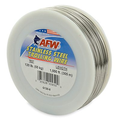 #G060-4//2 FREE USA SHIPPING AFW TROLLING WIRE Stainless Steel 60lb//600Ft NEW!