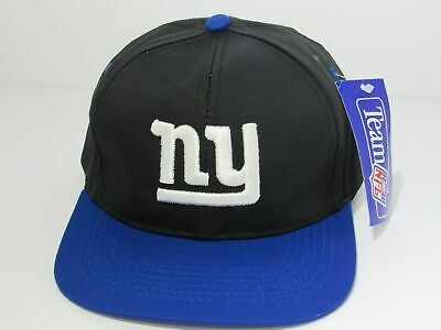 fdf82865acd141 Black with Blue Vintage 90's New York NY Giants Snapback DS Hat Cap Team NFL  NWT