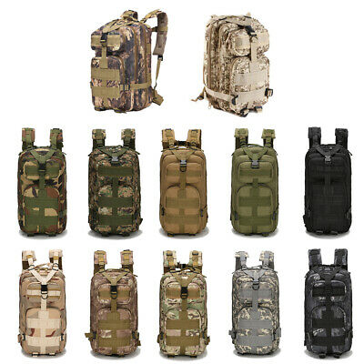 30L 3P Military Rucksacks Molle Tactical Backpack Camping Hiking Travel Bag NEW