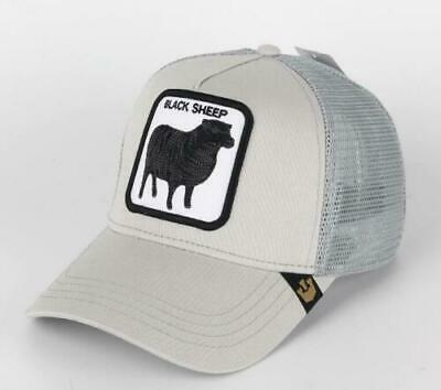 26a9d349a5494 GOORIN BROS ANIMAL Farm Snapback Trucker Hat Cap Grey Black Sheep ...