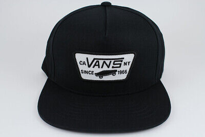 d0c2fc8b Vans Full Patch Snapback Hat Adjustable Cap Black/White Skateboard Adult Men  New