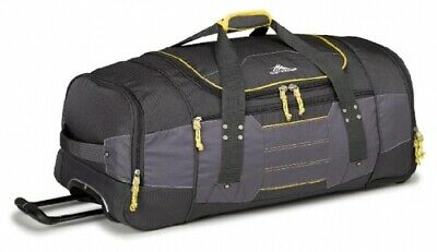 NEW High Sierra Ultimate Access  76Cm Wheeled Duffel Charcoal/Yellow - in