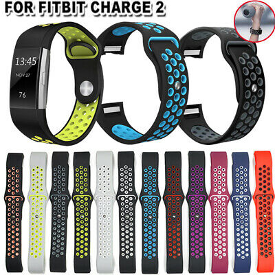 Soft Silicone Replacement Spare Sport Band Bracelet Strap for Fitbit Charge 2 ..