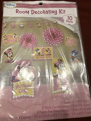 Fine 1St Birthday Minnie Mouse Room Decorating Kit 10 Piece Party Best Image Libraries Sapebelowcountryjoecom