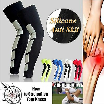 1pc Compression Knee High Support Stockings Long Sleeve Leg Gear Sport Protector