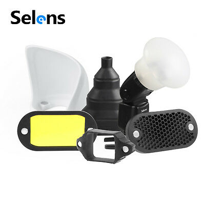 Selens Universal Magnet Flash Modifier Gels Filters Diffuser Bounce Band Snoot