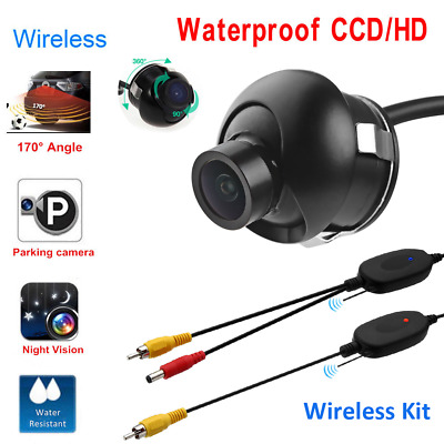 360° Waterproof Car Rear View Reverse Backup Parking Camera w/ Wireless System